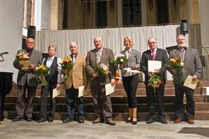 Sieben Ortsbeiratsvorsitzende wurden für ihr Engagement geehrt.