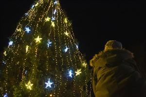Zum Schluss wurde der große Weihnachtsbaum am Kröpeliner Tor erleuchtet