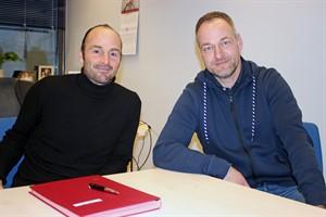Hansa-Cheftrainer Christian Brand (l.) und Sportvorstand René Schneider (Foto: F.C. Hansa Rostock)