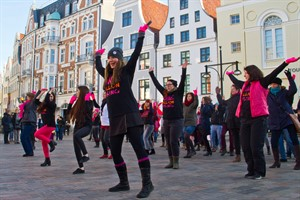 """One Billion Rising"" in Rostock"