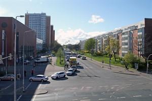 Die Rigaer Straße in Lütten Klein wird erneuert und ist zwischen Turkuer Straße und St. Petersburger Straße voll gesperrt