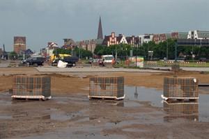 Neue Ausschreibung für Pflasterarbeiten auf Parkplatz im Stadthafen