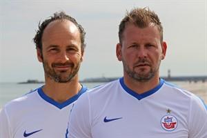Hansa Rostock beurlaubt Cheftrainer Christian Brand (links), Co-Trainer Uwe Ehlers (rechts) leitet bis auf weiteres die Mannschaft (Fotomontage, Archiv)