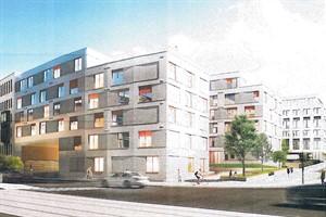 So soll das Studinest in der Vögenstraße nach einem Entwurf der Berliner Architektin Anne Menke-Sharam aussehen