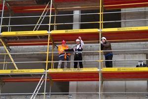 Richtfest auf der Baustelle der Centogene AG in Rostock