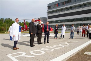 Einweihung des Hubschrauberlandeplatzes am Klinikum Südstadt