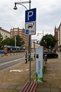 Ladestation für Elektroautos in der Langen Straße