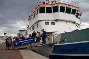 Die Crew der Horyzont II testet die Attraktivität von Häfen in der südlichen Ostsee für kleinere Kreuzfahrtschiffe