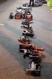 Werkzeuge im Seehafen Rostock sichergestellt (Foto: Bundespolizei Rostock)