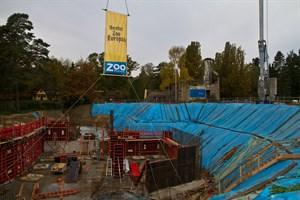 Baugrube im Zoo Rostock: Hier entsteht die neue Eisbärenanlage Polarium