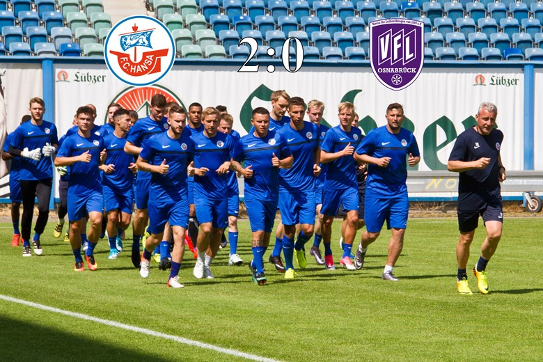 Hansa Rostock besiegt den VfL Osnabrück mit 2:0