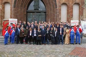 """Die Kommission des Städtebundes """"Die Hanse"""" ließ sich das Konzept des 38. Internationalen Hansetags Rostock 2018 präsentieren. (Foto: Hansetag Rostock/Danny Gohlke)"""