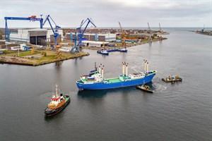 """Umfangreiche Sanierung der """"Likedeeler"""" erfolgreich abgeschlossen (Foto: MV Werften)"""