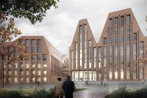 Mit dem ersten Platz im Wettbewerb für die Rathauserweiterung in Rostock wurde die Arbeit des Architekturbüros BKSP aus Hannover ausgezeichnet