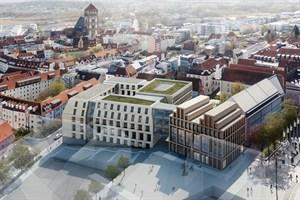 Entwurf des Büros MHB Planungs- und Ingenieursgesellschaft aus Rostock (2. Platz)
