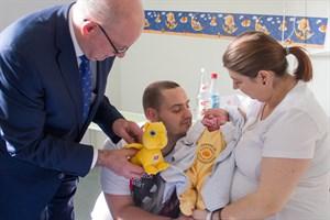 Lina ist das erste Baby, das 2018 in der Südstadtklinik geboren wurde.