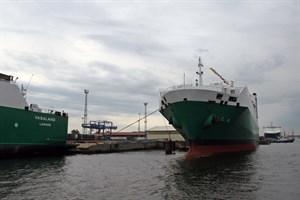 Der rollende Güterverkehr legte 2017 im Rostocker Überseehafen erneut zu