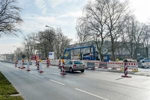 Eurawasser-Baustelle in Hamburger Straße führt zu Verkehrseinschränkungen (Foto: Thomas Ulrich)