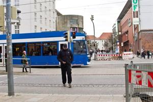 Fußgängerampel in der Langen Straße