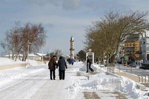Schnee und Eis in Rostock - der Winterdienst läuft auf Hochtouren