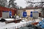 Betonbecken für Aquarien im Zoo Rostock eingesetzt