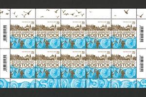 Briefmarke zum 800. Geburtstag von Rostock hat 70-Cent-Wert