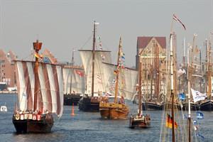 Koggen im Stadthafen (Foto: Lutz Zimmermann)
