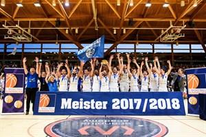 Die Scanplus Baskets Elchingen gewinnen die ProB Meisterschaft gegen die Rostock Seawolves (Foto: Christoph Worsch)