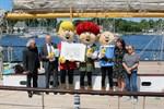 Abrafaxe gratulieren Rostock zum Stadtgeburtstag