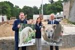 Eisbären Akiak und Noria ziehen ins Polarium im Zoo Rostock