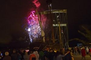 Feuerwerk zum 800. Stadtgeburtstag Rostocks