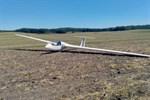 Segelflugzeug landet auf Acker nahe der A19