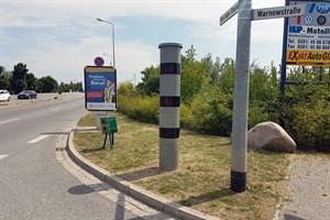 Blitzer-Attrappe in Rostock aufgestellt (Foto: Polizei)
