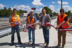 Verkehrsfreigabe nach Brückenerneuerung in der Tessiner Strasse