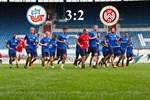 Hansa Rostock besiegt Wehen Wiesbaden mit 3:2