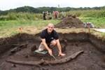 Slawischer Holzspant in Dierkow ausgegraben