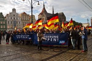 AfD-Demo auf dem Neuen Markt mit etwa 700 Sympathisanten
