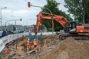 Bauarbeiten in Hamburger Straße verzögern sich (Foto: Thomas Ulrich)