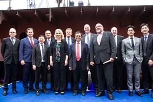 MV Werften in Rostock-Warnemünde legt erstes Kreuzfahrtschiff der Global-Klasse auf Kiel