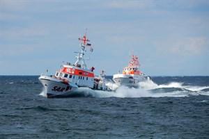 In die Suche eingebunden waren die Seenotrettungskreuzer ARKONA und THEO FISCHER (Archivbild: DGzRS – Kerstin Diekmann)
