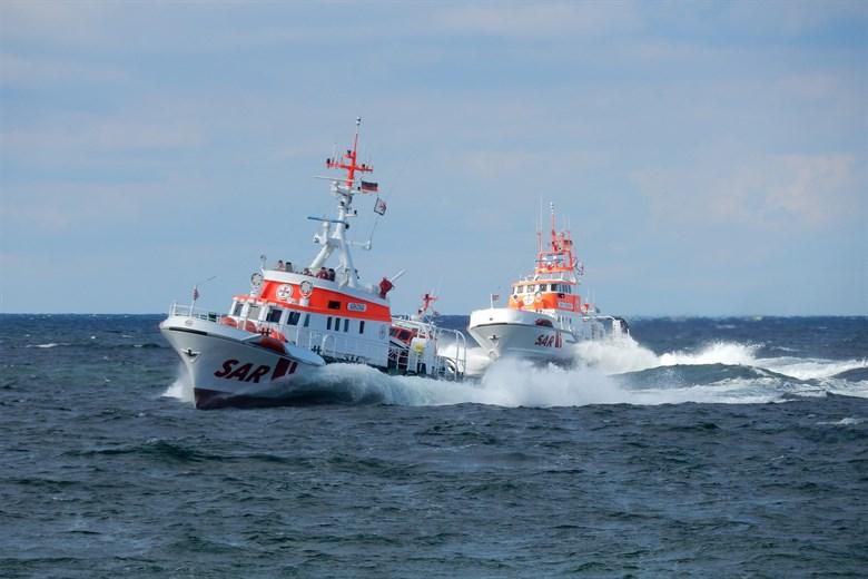 Besatzungsmitglied einer Fähre aus der Ostsee gerettet