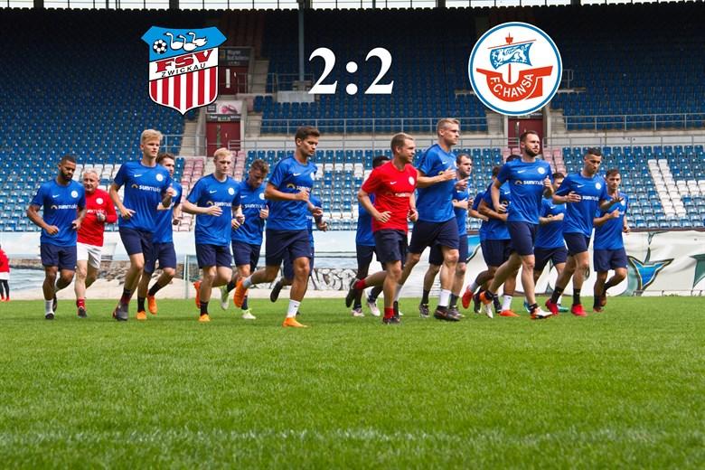 Hansa Rostock und der FSV Zwickau trennen 2:2