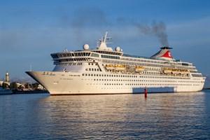"""Das Kreuzfahrtschiff """"Balmoral"""" hat seinen Anlauf für morgen in Warnemünde geplanten Anlauf wegen starken Windes abgesagt"""