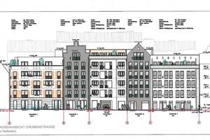 Straßenansicht von der Grubenstraße Quelle: Ocean Architects