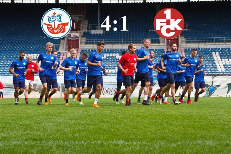 Hansa Rostock besiegt Kaiserslautern mit 4:1