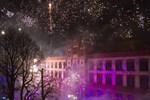 Uni in Flammen - mit Feuerwerk endet die 17. Rostocker Lichtwoche