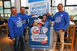 20 Jahre das Wunder von Bochum - Andreas Zachhuber, Juri Schlünz, Martin Pieckenhagen (v.l.n.r.) freuen sich auf das Spiel (Foto: F.C. Hansa Rostock)