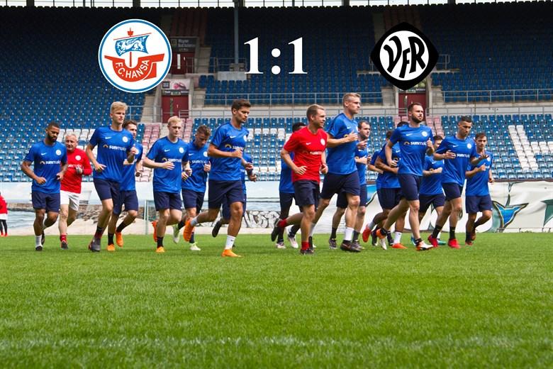 Hansa Rostock und der VfR Aalen trennen sich 1:1