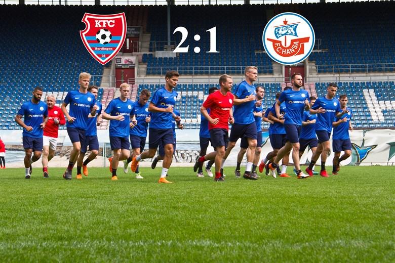 Hansa Rostock unterliegt dem KFC Uerdingen