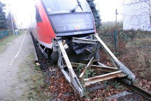 Regionalbahn rammt Prellbock in Rövershagen (Foto: Bundespolizeiinspektion Rostock)